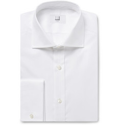 Dunhill White Cotton Oxford Shirt