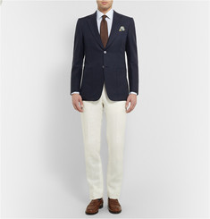 Dunhill Belgravia Slim-Fit Textured-Cotton Blazer