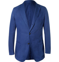 Dunhill Navy Fitzrovia Cotton and Linen-Blend Twill Blazer
