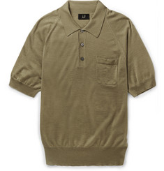 Dunhill Cashmere and Mulberry Silk-Blend Polo Shirt