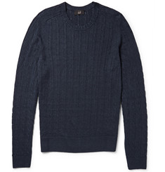 Dunhill Cable-Knit Linen and Cashmere-Blend Sweater