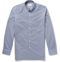 Alfred Dunhill Billy Button-Down Collar Checked Cotton Shirt