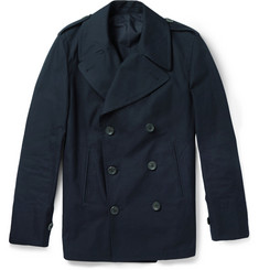 Dunhill Double-Breasted Cotton Peacoat
