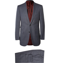 Dunhill Grey Belgravia Slim-Fit Checked Wool Suit