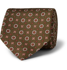 Dunhill Patterned Mulberry Silk Tie