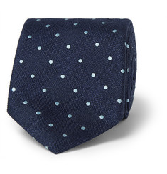 Dunhill Polka-Dot Mulberry Silk Tie