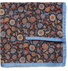 Alfred Dunhill Printed Mulberry Silk Pocket Square