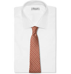 Dunhill Patterned Mulberry-Silk Tie