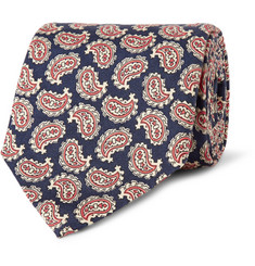 Dunhill Paisley-Patterned Mulberry Silk-Faille Tie