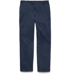 Alfred Dunhill Cotton-Twill Trousers