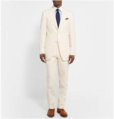 Dunhill Cream Linen Trousers