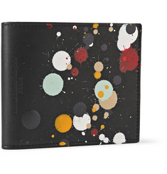 Maison Martin Margiela Paint Splatter Leather Billfold Wallet
