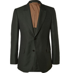 Berluti Green Slim-Fit Cotton, Mohair and Wool Blend Suit Jacket