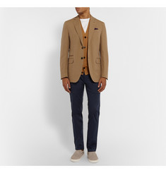 Berluti Ribbed Silk and Cotton-Blend Cardigan