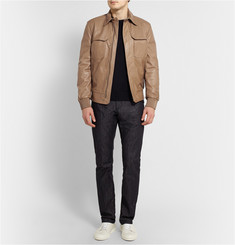 Berluti Leather Bomber Jacket