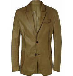 Berluti Slim-Fit Leather Blazer