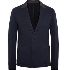 Sacai Slim-Fit Knitted Cotton Blazer