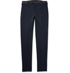Sacai Slim-Fit Knitted Cotton Trousers
