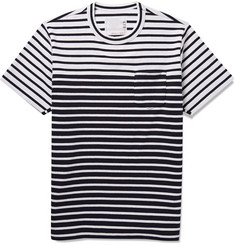 Sacai Striped Knitted Cotton T-Shirt