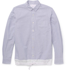 Sacai Striped Cotton and Linen-Blend Shirt
