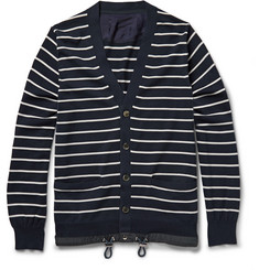 Sacai Drawstring-Hem Cotton Cardigan