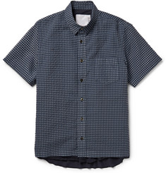 Sacai Plaid Seersucker Cotton-Blend Shirt