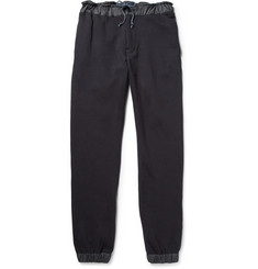 Sacai Shell-Trimmed Loopback Cotton Sweatpants