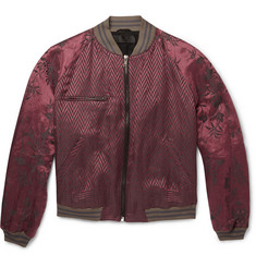 Haider Ackermann Floral-Jacquard Linen and Silk-Blend Bomber Jacket