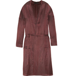 Haider Ackermann Chevron-Jacquard Linen and Silk-Blend Robe