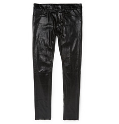 Haider Ackermann Slim-Fit Stretch-Leather Trousers