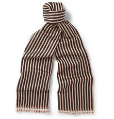 Haider Ackermann Double-Layered Wool and Silk-Blend Scarf