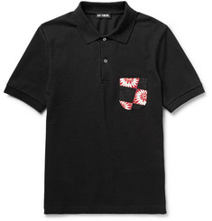 Raf Simons Printed Cotton-Piqué Polo Shirt