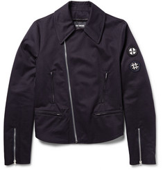 Raf Simons Embroidered Cotton-Twill Biker Jacket
