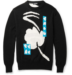 Raf Simons Intarsia-Knit Cotton Sweater