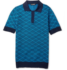 Raf Simons Diamond Knitted Polo Shirt