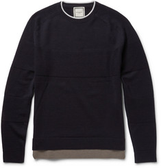 Wooyoungmi Contrast-Trim Wool Sweater