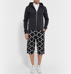 Wooyoungmi Shell-Trimmed Stretch-Jersey Hoodie