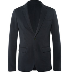 Wooyoungmi Navy Slim-Fit Unstructured Jersey Blazer