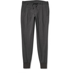 Wooyoungmi Cuffed Stretch-Cotton Trousers