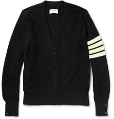 Thom Browne Ribbed Cotton Cardigan