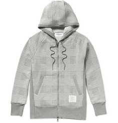Thom Browne Checked Loopback Cotton-Jersey Hoodie