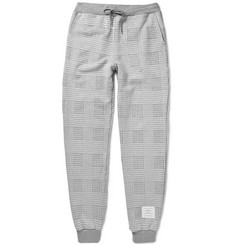 Thom Browne Prince of Wales Checked Cotton Sweatpants