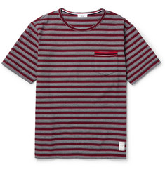 Thom Browne Striped Cotton-Piqué T-Shirt