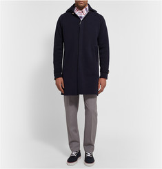 Thom Browne Knitted Cotton and Cashmere-Blend Hooded Overcoat