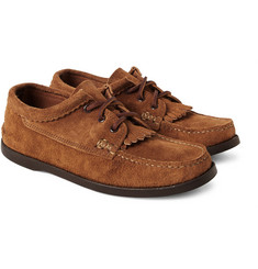 Yuketen Fringed Suede Moccasin Shoes
