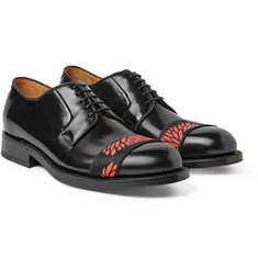 Raf Simons Strap-Front Polished-Leather Derby Shoes