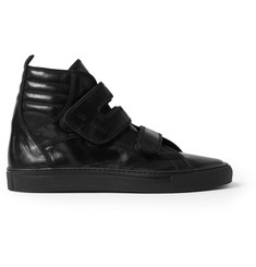 Raf Simons Leather High Top Sneakers