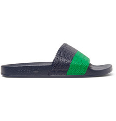 Raf Simons + Adidas Adilette Striped Rubber Pool Slides
