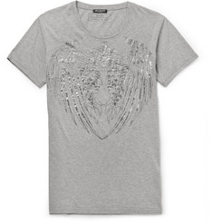 Balmain Metallic Printed Cotton T-Shirt
