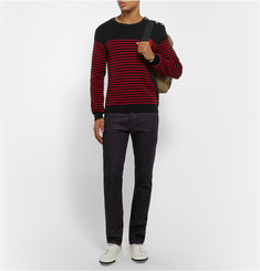 Balmain Zardozi-Trimmed Knitted Cotton Sweater